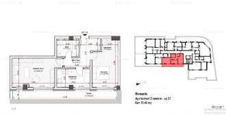 Apartament 2 camere zona Tractorul Comision 0%