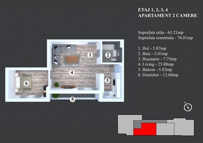 Apartament 63 Mp De Vanzare In Timisoara Bucuresti Imoradar24
